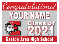 24x18 Graduation Yard Sign - Design Option 1