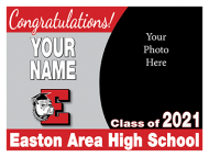 24x18 Graduation Yard Sign - Design Option 4 with picture
