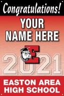 24x36 Graduation Banner - Design Option 3