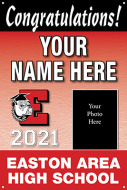 24x36 Graduation Banner - Design Option 3 with picture