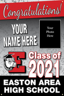 24x36 Graduation Banner - Design Option 1 with Picture