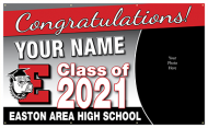 5'x3' Graduation Banner with Picture