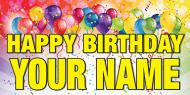 Happy Birthday 36x18 Vinyl Banner